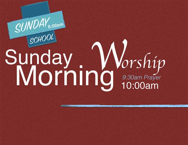 Sunday Morning Worship: Youth Sunday