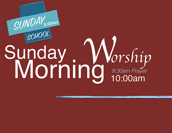 Sunday Morning Worship Flyer