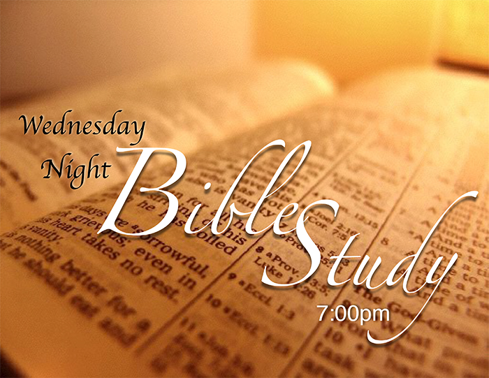 Wednesday Night Bible Study Flyer