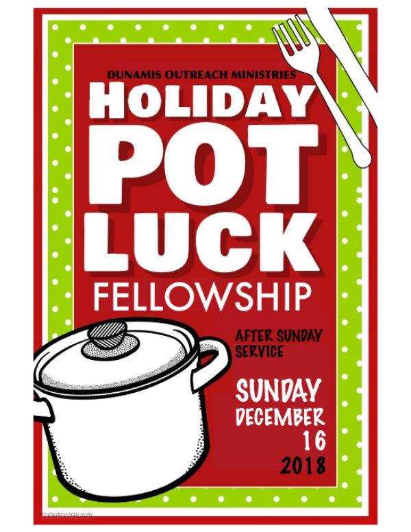 Holiday Potluck Fellowship Sunday